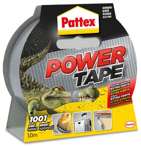 NASTRO PATTEX POWER TAPE GRIGIO mm 50 x 10 MT
